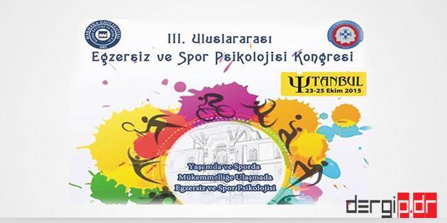 3. Uluslararası Egzersiz ve Spor Psikolojisi Kongresi