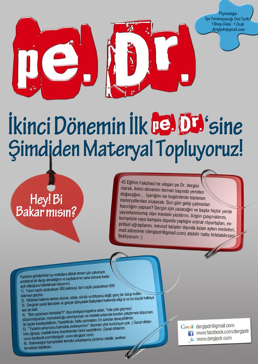 PDR'ciler: Dergi pe.Dr. Nisan 2013'te Tekrar Çıkıyor!