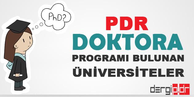 Psikolojik Danışmanlık ve Rehberlik Doktora Programları