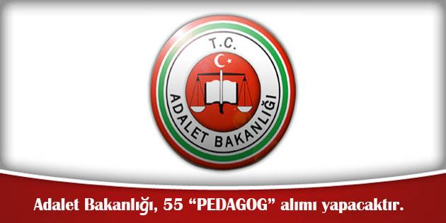 Adalet Bakanlığı, 55 Pedagog Alımı