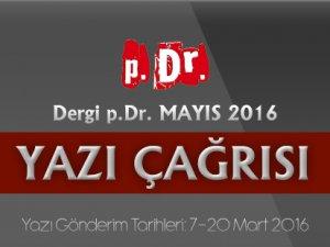 Dergi p.Dr. MAYIS 2016 Yazı Çağrısı