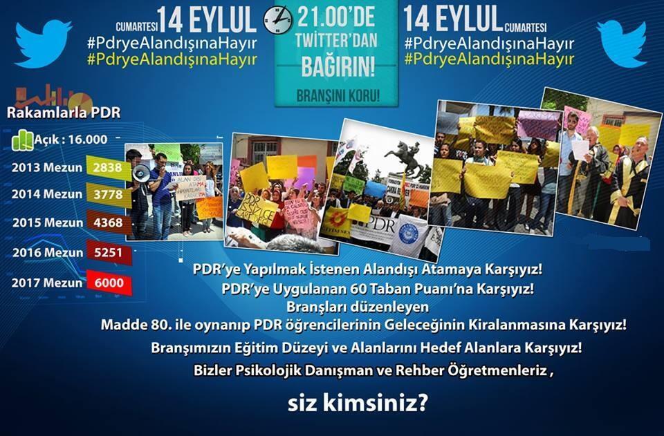 PDR'ciler Olarak 14 Eylül'DE, 21:00'da #Pdryealandışınahayır Tag'ında Buluşuyoruz!