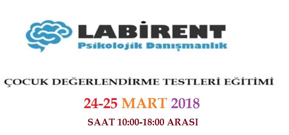 OYUN TERAPİSİ EĞİTİMİ 24-25 MART 2018'DE LABİRENT PSİKOLOJİ'DE