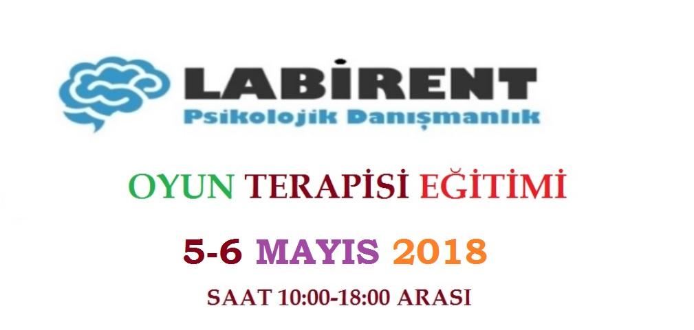 Oyun Terapisi Eğitimi 5-6 Mayıs'ta Labirent Psikoloji'de