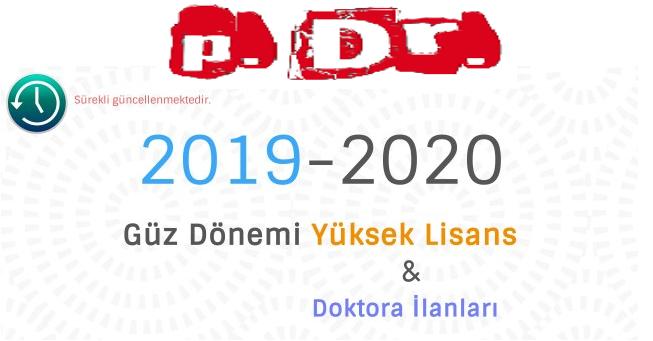 PDR YÜKSEK LİSANS VE DOKTORA İLANLARI (2019-2020 YILI EN GÜNCEL DUYURULAR)