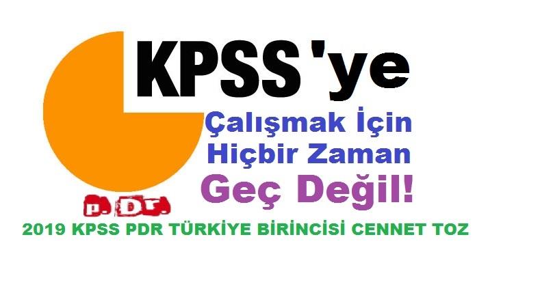 KPSS'YE ÇALIŞMAK İÇİN HİÇBİR ZAMAN GEÇ DEĞİL