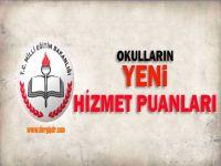 MEB Okulların Yeni Hizmet Puanlarını Yayınladı