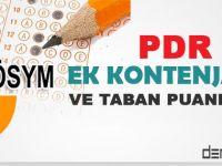 2015 PDR Ek Yerleştirme Kontenjan ve Taban Puanları