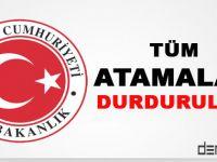 2015/9 sayılı Başbakanlık Genelgesi ile Tüm Atamalar Durduruldu