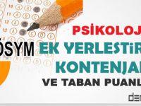 2015 Psikoloji Ek Yerleştirme Kontenjan ve Taban Puanları