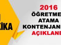 2016 Öğretmen Atamaları Rehberlik Kontenjanı