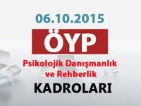 ÖYP PDR Kadroları -06.10.2015-