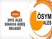 Ales Sonbahar Sınava Giriş Belgeleri Erişime Açıldı