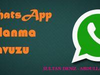 WhatsApp KULLANMA KILAVUZU