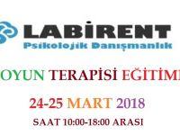 Oyun Terapisi Eğitimi 24-25 Mart 2018'de Labirent Psikoloji'de