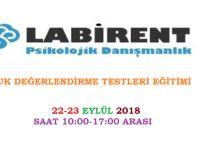 ÇOCUK DEĞERLENDİRME TESTLERİ 22-23 EYLÜL'DE LABİRENT PSİKOLOJİ'DE