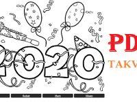 2020 YILI PDR TAKVİMİ (12 AY)