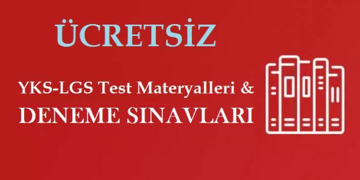 ÜCRETSİZ YKS-LGS TESTLERİ & DENEME SINAVLARI