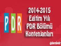 2014-2015 Eğitim Yılı PDR Bölümü Kontenjanları (PDR Bölümlerine Alınacak Toplam Öğrenci Sayısı)